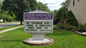 Pokemon Go church sign